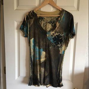 Affliction Women's Short Sleeve Shirt. Size XL.